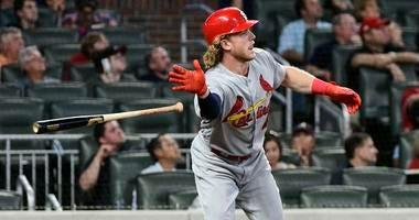 St. Louis Cardinals' Harrison Bader gets a home run