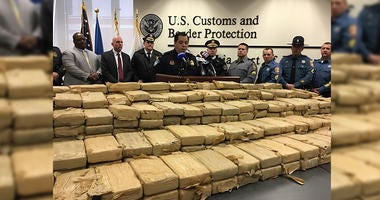 A multi-agency examination of imported shipping containers at the Philadelphia seaport netted 1,185 pounds of cocaine Tuesday.