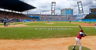 game between the Tampa Bay Rays and the Cuban National team