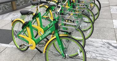 Lime Bike rental bikes in St. Louis