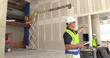 Tour of the renovation process for Phase 2 of the Enterprise Center.