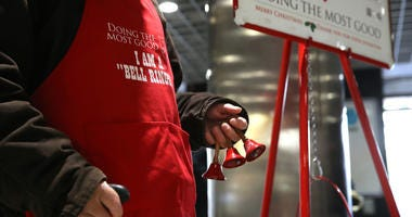 bell ringer, Salvation Army, Red kettle