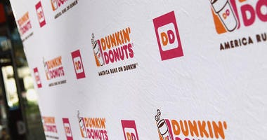 A general view of the atmosphere during the Valentine's Day With Dunkin' Donuts Heart-Shaped Donuts held at Dunkin Donuts on February 12, 2016 in Encino, California.