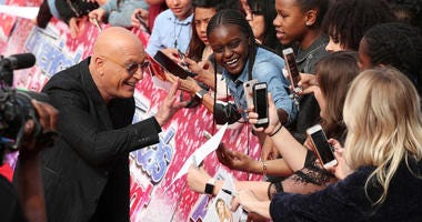 Howie Mandel greets fans at the red carpet kickoff for 'America's Got Talent' season 13 at Pasadena Civic Auditorium on March 12, 2018 in Pasadena, California.