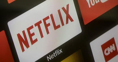 The Netflix App logo is seen on a television screen on March 23, 2018 in Istanbul, Turkey.