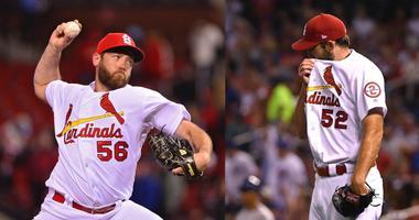 Cardinals pitchers Michael Wacha and Greg Holland.