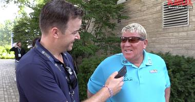 Tom Ackerman interviews John Daly at the PGA Championship at Bellerive.