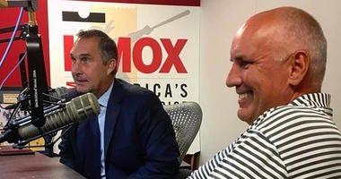 John Mozeliak and Doug Armstrong in the KMOX Sports studio.