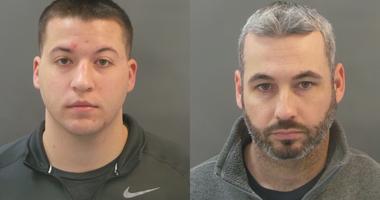 Officers Joseph Schmitt (left) and William Olsten