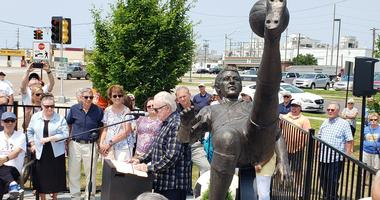 Ruben Mendoza Memorial unveiling June 1, 2019 in Granite City, Illinois
