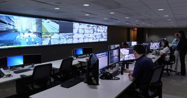 Inside the Real Time Crime Center at the St. Louis Metro Police Department.
