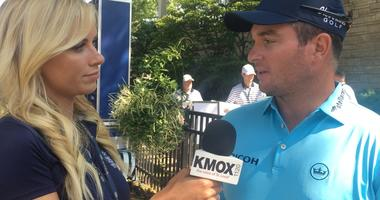 New Zealander Ryan Fox talks to Katie Kearney before his 2nd round at the PGA Championship.