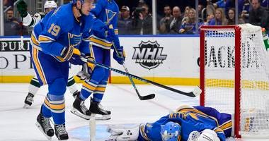 St. Louis Blues goalie Jake Allen