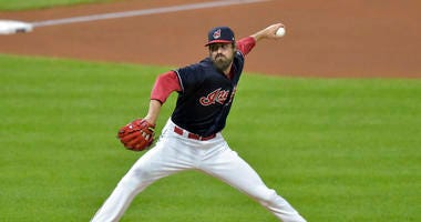 Cleveland Indians relief pitcher Andrew Miller