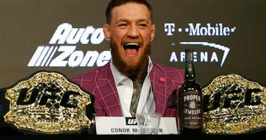 Conor McGregor during a press conference for UFC 229