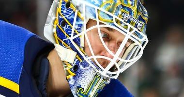 St. Louis Blues goaltender Jordan Binnington