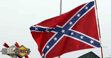 Confederate flags in the Daytona Speedway infield following practice or the Coke Zero 400 Powered By Coca-Cola at Daytona International Speedway.