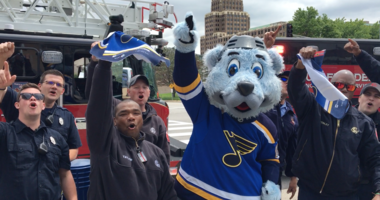 St. Louis Blues fan rally behind team with spoof of Baby Shark song as their team faces the San Jose Sharks in the Western Conference Final