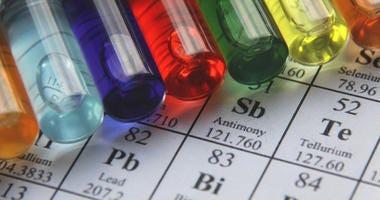 Chemistry. Test tube series.