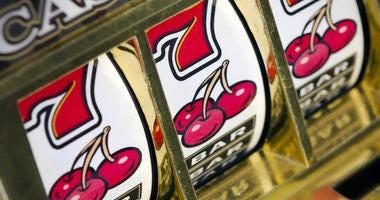 Slot machine 777 close up