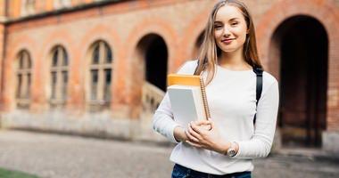 Female college student.