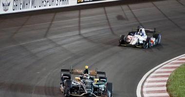 race cars at Gateway Motorsports Park