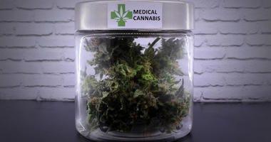 medical marijuana in a jar
