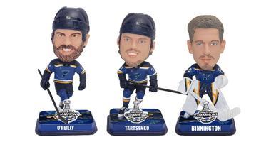 Set of 3 mini St. Louis Blues Bobbleheads