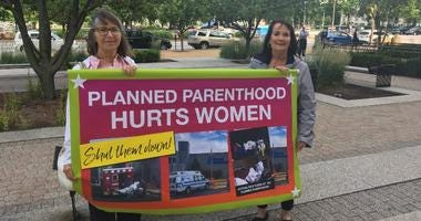 Planned Parenthood protestors