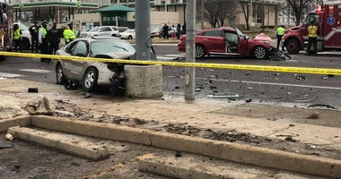 An accident Sunday 2/9/2020 in North St. Louis killed one man and injured four others.