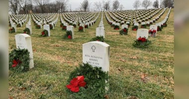 Wreaths at Jefferson Barracks National Cemetery