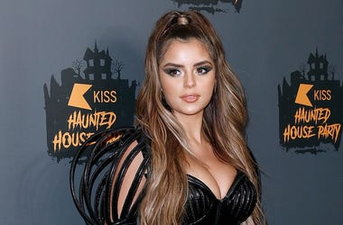 Demi Rose attends KISS Haunted house Party 2018 at The SSE Arena, Wembley on October 26, 2018 in London, England.
