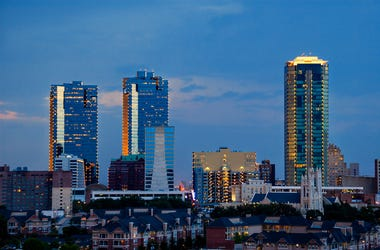 Skyline of Fort Worth, Texas at night