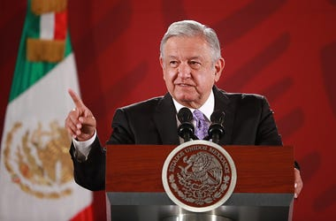 President of Mexico Andres Manuel Lopez Obrador speaks with the press during the Presidential Daily Morning Briefing on November 13, 2019 in Mexico City, Mexico. Lopez Obrador gave details about the asylum granted to Former President of Bolivia Evo Morale