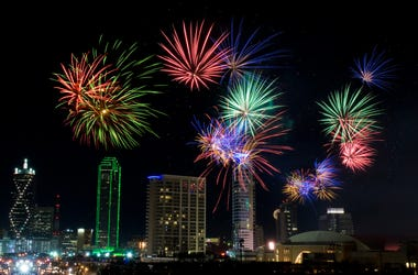 Fireworks in Dallas Texas