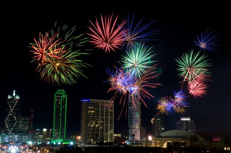 Fireworks in Dallas Texas