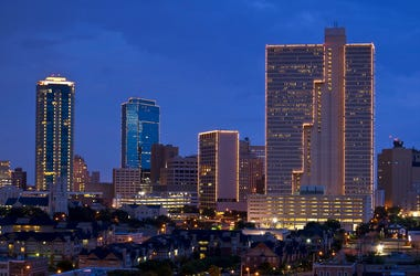 Cityscape of Fort Worth Texas at night