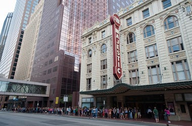 """Fans line up outside The Majestic Theater before the taping of CW's """"The Next"""" on August 7, 2012 in Dallas, Texas."""