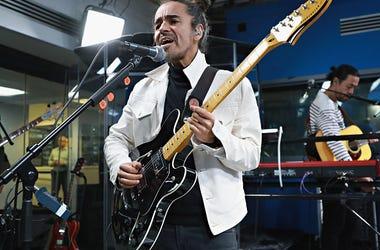 Ruben Albarran of Cafe Tacuba performs at SiriusXM Studios on April 19, 2017 in New York City.