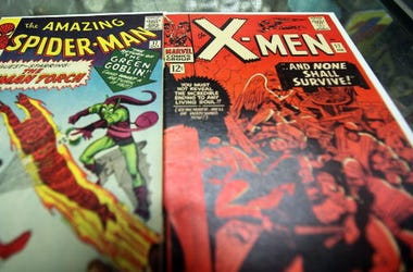 In this photo illustration, vintage Spider Man and X-Men Marvel comic books are seen at St. Mark's Comics August 31, 2009 in New York City. The Walt Disney Co. announced that it plans to acquire Marvel Entertainment Inc. for $4 billion in stock and cash,
