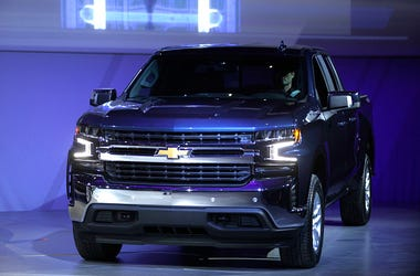 JANUARY 13: The new 2019 Chevrolet Silverado 1500 makes its official debut at the 2018 North American International Auto Show January 13, 2018 in Detroit, Michigan. The show opens to the public January 20th and ends January 28th.