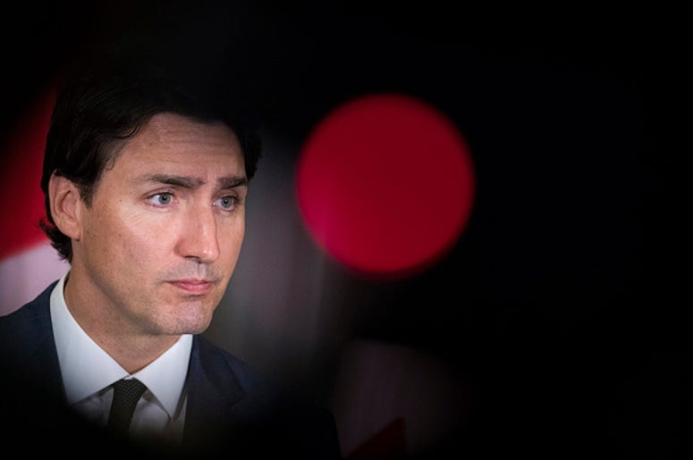 Canadian Prime Minister Justin Trudeau speaks during a news conference at the Canadian Consulate General, May 17, 2018 in New York City. Earlier in the day, speaking at the Economic Club of New York, Trudeau said the sticking points to renegotiating the