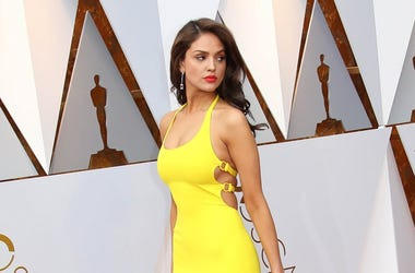 Eiza Gonzalez arrives at the 90th Academy Awards at Dolby Theatre.
