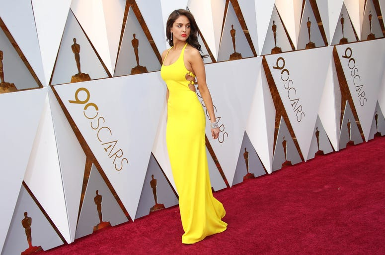March 4, 2018; Hollywood, CA, USA; Eiza Gonzalez arrives at the 90th Academy Awards at Dolby Theatre. Mandatory Credit: Dan MacMedan-USA TODAY NETWORK