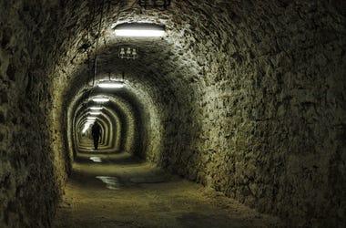 Salt mine tunnel