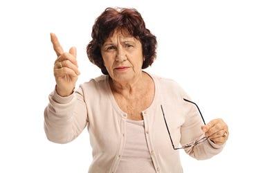 Mama enojada