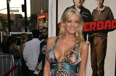 Stormy Daniels arriving for the 'Superbad' Los Angeles Premiere at Grauman's Chinese Theatre in Hollywood, CA, USA on August 13, 2007. (Walker/ABACAUSA.COM/TNS/Sipa USA)