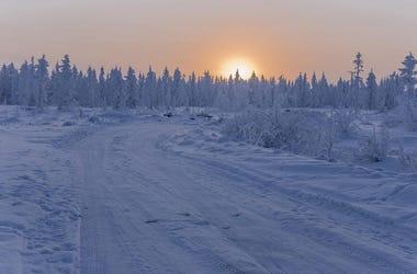 Nieve Color Naranja Alrededor Del Mundo
