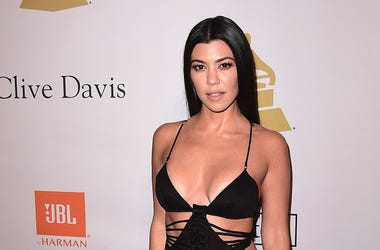 BEVERLY HILLS - FEBRUARY 11: Kourtney Kardashian at the 2017 Clive Davis Pre-Grammy Gala at the Beverly Hilton Hotel on February 11, 2017 in Beverly Hills, California. (Photo by Scott Kirkland/PictureGroup) *** Please Use Credit from Credit Field ***