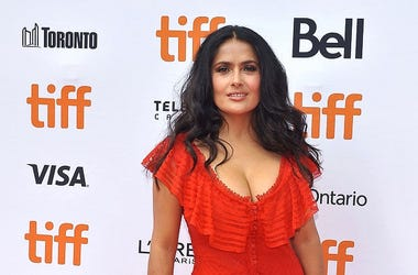 "08 September 2018 - Toronto, Ontario, Canada - Salma Hayek. ""The Hummingbird Project"" Premiere - 2018 Toronto International Film Festival held at the Princess of Wales Theatre."